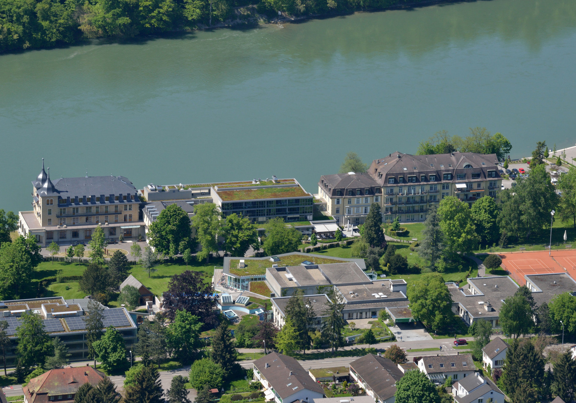 Luftansicht des Parkresort Rheinfelden
